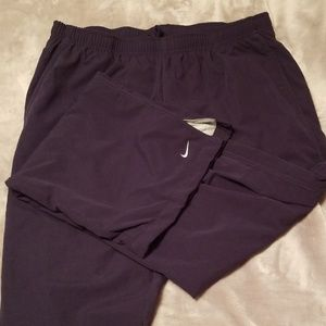 Nike dark blue warm-up pants womens's L